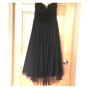 Tulle strapless cocktail dress